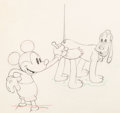 Animation Art:Production Drawing, Society Dog Show Pluto Mickey Mouse and Pluto Animation Drawing (Walt Disney, 1939)....