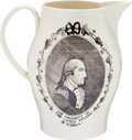 Political:3D & Other Display (pre-1896), George Washington: Rare and Impressive Liverpool Pitcher....