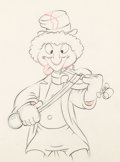 Animation Art:Production Drawing, Mother Goose Goes Hollywood Harpo Marx Animation Drawing (Disney, 1938)....