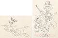 Animation Art:Production Drawing, Mother Goose Goes Hollywood Groucho,...