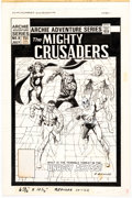Original Comic Art:Covers, Rich Buckler and Ricardo Villagran The Mighty Crusaders #8 Cover Original Art and Color Guide (Archie Comics, 1984... (Total: 2 Original Art)