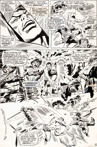 John Buscema and Frank Giacoia Sub-Mariner #1 Story Page 6 Original Art (Marvel, 1968)