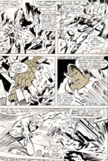 Original Comic Art:Panel Pages, John Buscema and Tom Palmer The Avengers #83 Story Page 11 Black Panther and Quicksilver Original Art (Marvel, 197...