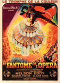 "Movie Posters:Horror, Phantom of the Opera (Universal, 1945). Fine/Very Fine on Linen. First Post-War Release French Grande (46"" X 63"") Constantin..."