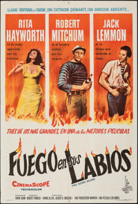 """Fire Down Below & Other Lot (Columbia, 1957). Folded, Very Fine. Argentinean One Sheet (29"""" X 43"""") & L..."""