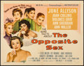 "Movie Posters:Drama, The Opposite Sex (MGM, 1956). Folded, Fine/Very Fine. Half Sheet (22"" X 28"") & Title Lobby Card (11"" X 14""). Drama.. ... (Total: 2 Items)"