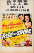 """Movie Posters:Comedy, Rise and Shine (20th Century Fox, 1941). Very Fine-. Window Card (14"""" X 22""""). Comedy.. ..."""