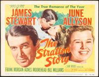 """The Stratton Story (MGM, 1949 & R-1956). Folded, Fine/Very Fine. Title Lobby Card (11"""" X 14"""") & One Sh..."""