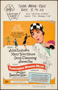 """Thoroughly Modern Millie & Other Lot (Universal, 1967). Fine/Very Fine. Window Cards (2) (14"""" X 22""""). Musi..."""