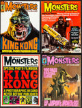 """Movie Posters:Horror, Famous Monsters of Filmland (Warren Publishing, 1963-1975). Fine/Very Fine. Magazines (4) (Multiple Pages, 8.5"""" X 11""""..."""