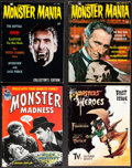 "Movie Posters:Horror, Monster Mania Magazine & Other Lot (Renaissance, 1966/1967). Fine/Very Fine. Magazines (8) (Multiple Pages, 8.25"" X 11"" & 8""... (Total: 8 Items)"