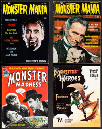 Monster Mania Magazine & Other Lot (Renaissance, 1966/1967). Fine/Very Fine. Magazines (8) (Multiple Pages, 8.25&quo...