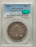 1806 50C Pointed 6, No Stem, XF45 PCGS. CAC. PCGS Population: (50/112). NGC Census: (0/0). XF45. From The Spring Cree...