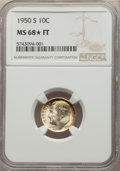 1950-S 10C MS68★ Full Bands NGC. NGC Census: (6/0). PCGS Population: (5/0). Mintage 20,440,000....(PCGS# 85096)