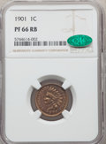 1901 1C PR66 Red and Brown NGC. CAC. NGC Census: (22/7). PCGS Population: (56/13). PR66. Mintage 1,985. ...(PCGS# 2391)
