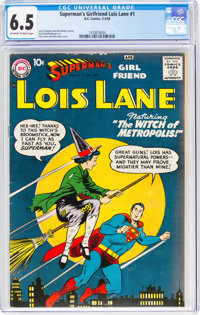 Superman's Girlfriend Lois Lane #1 (DC, 1958) CGC FN+ 6.5 Off-white to white pages