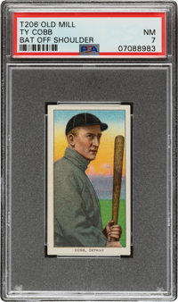 1909-11 T206 Old Mill Ty Cobb (Bat Off Shoulder) PSA NM 7 - Pop One, Two Higher for Brand