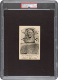 Baseball Collectibles:Others, 1940's Eddie Collins Signed Albertype Hall of Fame Plaque, PSA/DNA NM-MT 8....