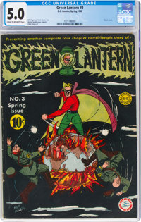 Green Lantern #3 (DC, 1942) CGC VG/FN 5.0 Cream to off-white pages