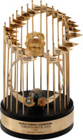 Baseball Collectibles:Photos, 1992 Toronto Blue Jays World Series Championship Standard Format Trophy from The Devon White Collection....