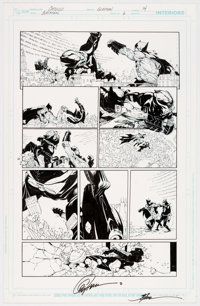 Greg Capullo and Jonathan Glapion Batman #6 Story Page 14 Original Art (DC, 2012).... (Total: 2 Original Art)
