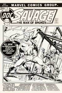 John Buscema Doc Savage #1 Cover Original Art (Marvel, 1971)