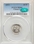 Three Cent Nickels, 1873 3CN Closed 3 MS66 PCGS. CAC. PCGS Population: (14/1). NGC Census: (11/1). CDN: $2,000 Whsle. Bid for NGC/PCGS MS66. Mi...