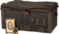 "California Gold Rush: Trunk That Went ""Round the Cape"" to the Gold Fields with a 49'er"