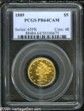 Proof Liberty Half Eagles: , 1889 $5 PR64 Cameo PCGS. Half Eagle production at the ...