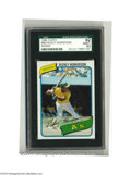 Baseball Cards:Singles (1970-Now), 1980 TOPPS RICKEY HENDERSON #482 NM/MT+ SGC 92....