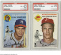 Baseball Collectibles:Others, 1954 Topps PSA-Graded Star Cards (2)....
