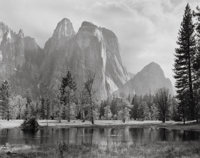 Ansel Adams (American, 1902-1984) Cathedral Spires and Rocks, Late Afternoon, Yosemite National Park, Californi