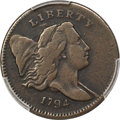 Half Cents, 1794 1/2 C Normal Head, Small Edge Letters, C-4a, B-6b, R.3, VF25 PCGS. CAC....