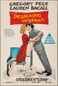 Movie Posters:Comedy, Designing Woman (MGM, 1957). Folded, Very Fine-. A...