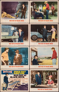 "Bad Day at Black Rock (MGM, 1955). Fine/Very Fine. Lobby Card Set of 8 (11"" X 14""). Thriller. ... (Total: 8 It..."