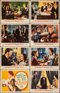 """Movie Posters:Romance, The Barretts of Wimpole Street (MGM, 1957). Fine/Very Fine. Lobby Card Set of 8 (11"""" X 14""""). Romance.. ... (Total: ..."""
