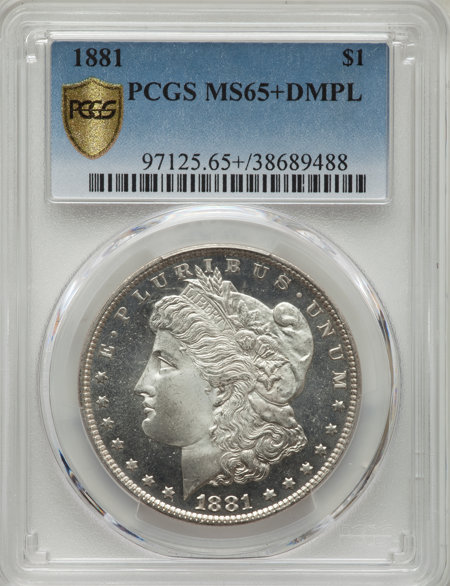 1881 S$1, DM PCGS Secure PCGS Plus 65 PCGS