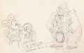 Animation Art:Production Drawing, Society Dog Show Mickey Mouse, Pluto, and Judge Production Drawing (Walt Disney, 1939). ...