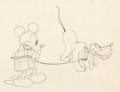 Animation Art:Production Drawing, Mickey's Gala Premier Mickey Mouse and Pluto Animation Drawing (Walt Disney, 1933). ...