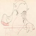 """Animation Art:Production Drawing, Make Mine Music """"Whale Who Wanted to Sing at the Met"""" Willie the Whale Production Drawing (Walt Disney,..."""