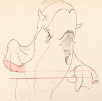 "Make Mine Music ""Whale Who Wanted to Sing at the Met"" Willie the Whale Production Drawing (Walt Disney, 1946)..."