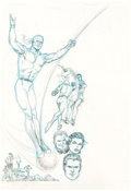 "Murphy Anderson Who's Who: The Definitive Directory of the DC Universe #8 ""Firebrand"" Pin-Up Illustration Orig..."