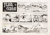 Dan Barry Flash Gordon Sunday Comic Strip Original Art dated 10-4-70(King Features Syndicate, 1970)