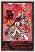 "Movie Posters:Musical, My Fair Lady (Warner Bros.-Seven Arts, 1964). Folded, Very Fine-. Australian One Sheet (27"" X 40""). Bob Peak Artwork. Musica..."