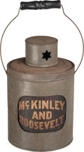 Political:3D & Other Display (1896-present), McKinley & Roosevelt: Rare Variety OF The Classic Full Dinner Pail Tin Campaign Lantern....