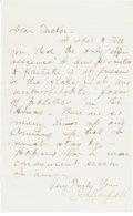 Autographs:U.S. Presidents, James Garfield: LS (Letter Signed)....