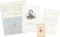 "Autographs:Statesmen, George Boutwell: Manuscript Pertaining To President Andrew Johnson And Being ""Above The Law""...."