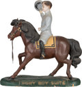Advertising:Signs, Antique Advertising Pony Boy Suits Paper Mache Store Display. ...
