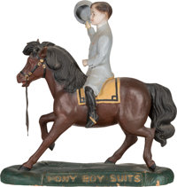 Antique Advertising Pony Boy Suits Paper Mache Store Display