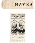 Political:Ribbons & Badges, Rutherford B. Hayes: Pair of Ribbons.... (Total: 2 Items)
